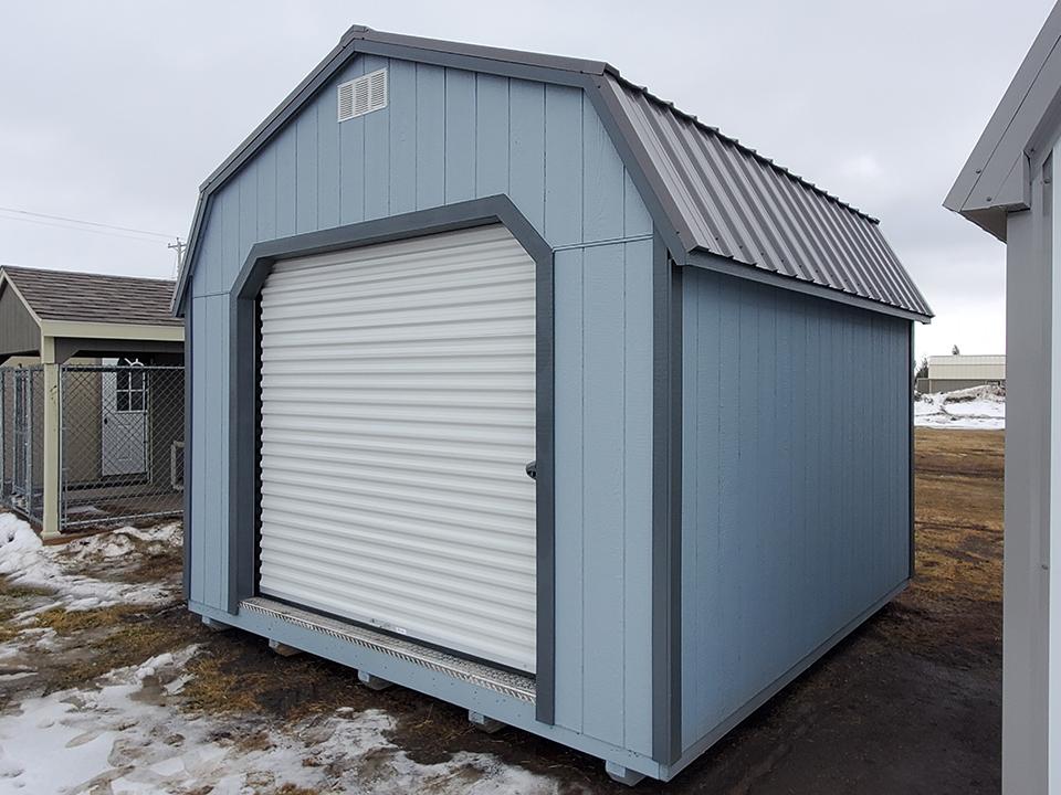 12 x 12 Dutch Barn Garage W/ Gray Trim