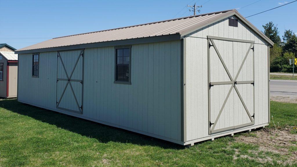 12 x 36 A-Frame w/ Buckskin Crinkle Metal Roof