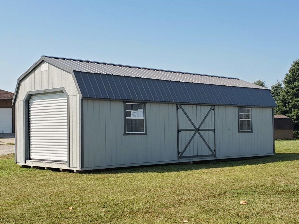 12 x 32 Dutchbarn Garage w/ (4) 30″ x 36″ Windows